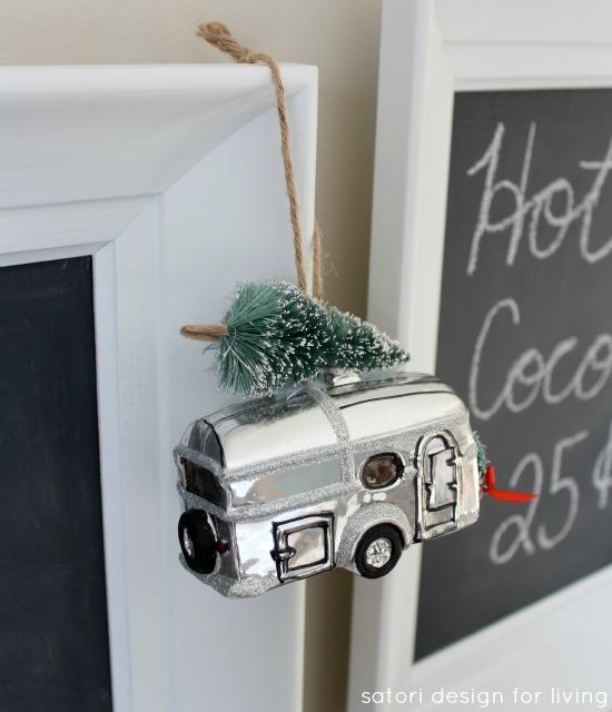 Nostalgic Christmas Ornaments from Pottery Barn - Camping Trailer Ornament - Satori Design for Living