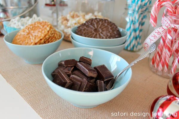 Create Your Own Hot Cocoa Station with Delicious Toppings for the Holidays | Satori Design for Living