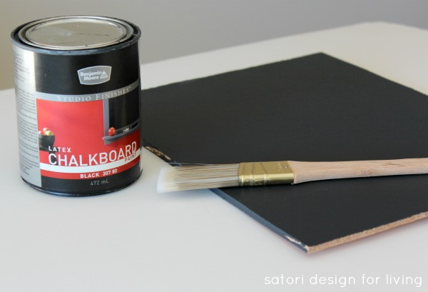 How to make a chalkboard   Satori Design for Living