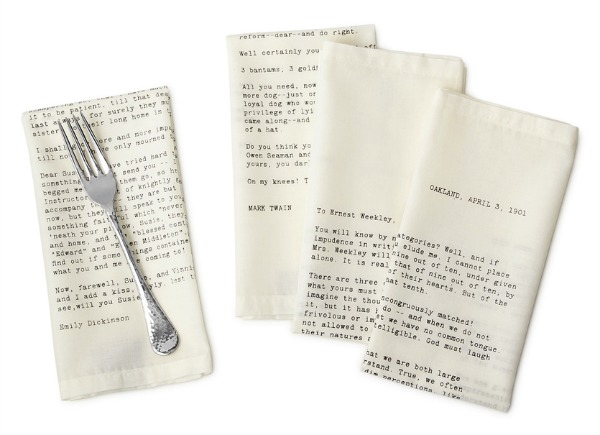 Love Letter Napkins | Satori Design for Living