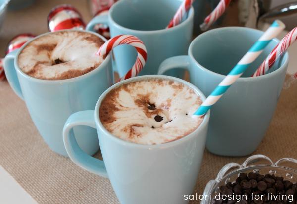 Holiday Entertaining Ideas - Nostalgic Hot Cocoa Station by Satori Design for Living