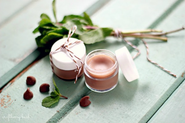 All Things Christmas - Handmade Gift Idea - chocolate mint lip balm by craftberry bush