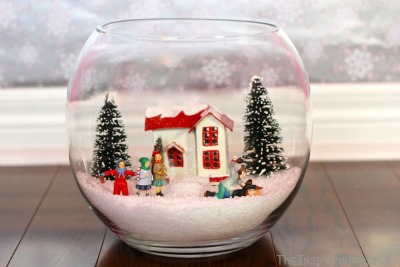 Winter Scene with Epsom Salt Snow - The Inspired Home