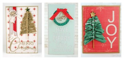 Handmade Christmas Cards Using Ribbon - Fynes Designs