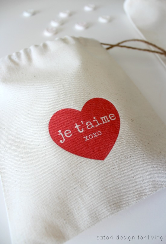 Make These Valentine's Day Treat Bags with Cute Sayings Using Iron-on Transfer Printables - Satori Design for Living