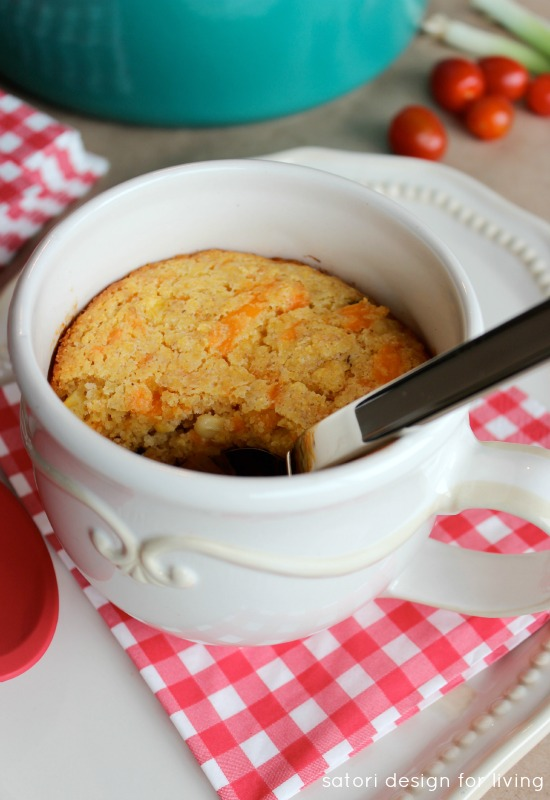 Superbowl Recipe - Chili with Jalapeno Cheddar Cornbread Crust | Satori Design for Living