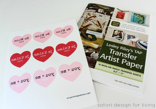 Valentine's Day Iron On Transfer Paper and Free Heart Printables