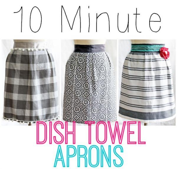 10 minute dish towel apron tutorial - Fynes Designs