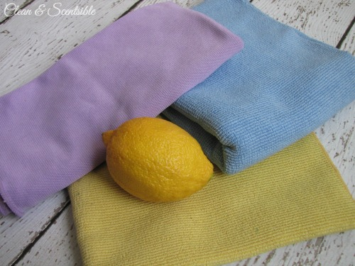 "The top five ""must have"" green cleaning items - microfiber cloths"