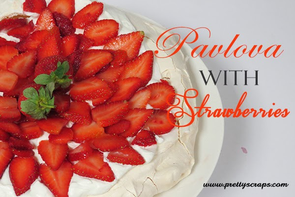 Pavlova with Strawberries recipe