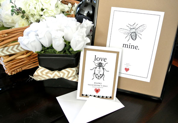 love bug printables for Valentines Day