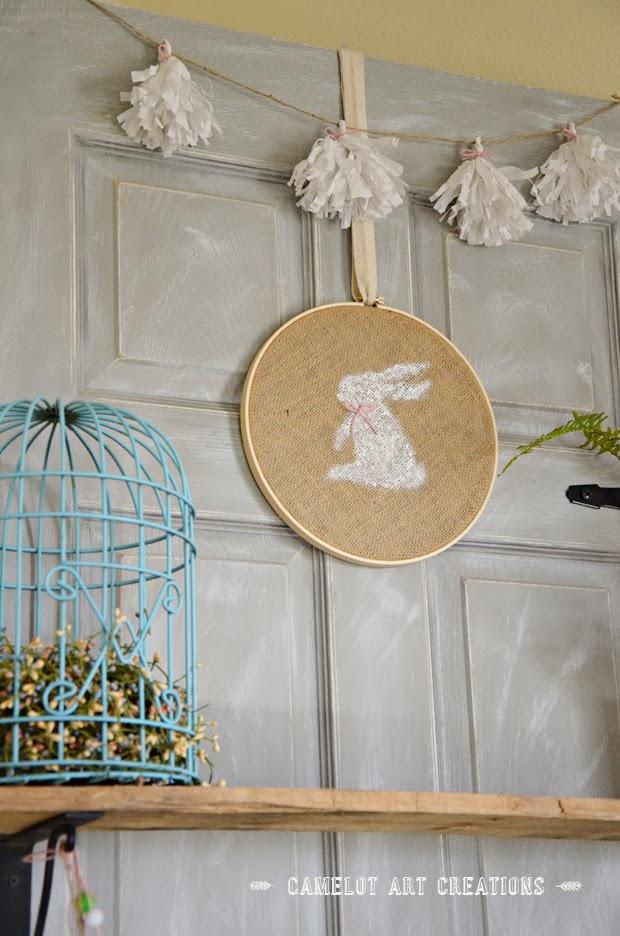 Burlap Bunny Hoop Easter Craft