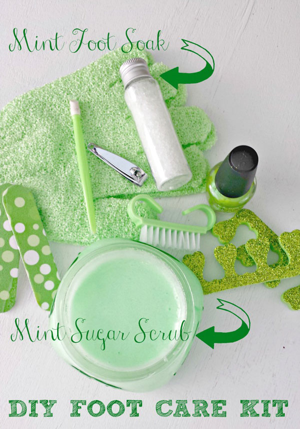 DIY Mint Foot Soak