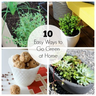 Easy and simple ways to go green at home resulting in a smaller footprint on the environment and saving you money.