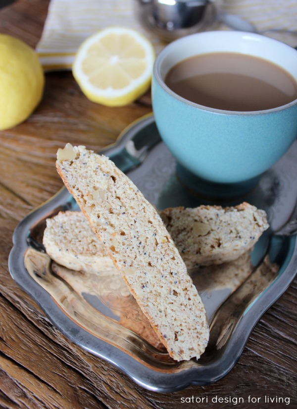 Lemon Poppy Seed Biscotti Recipe - Satori Design for Living