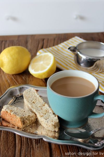 Lemon Poppyseed Biscotti Recipe - Satori Design for Living