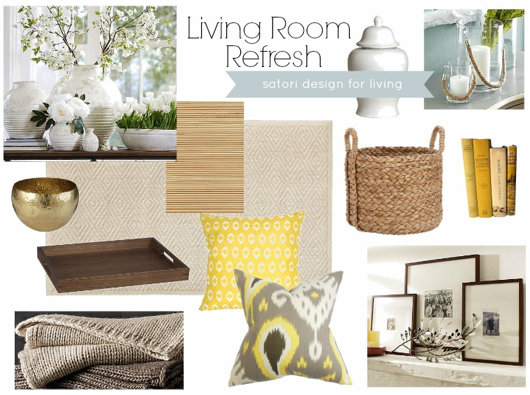 Living Room Moodboard for Spring -  Living Room Refresh by Satori Design for Living