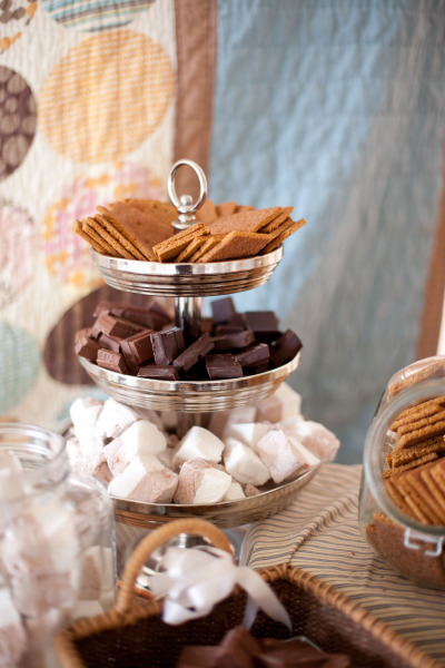 Tiered Stand with Smore Ingredients - katherine holly photography