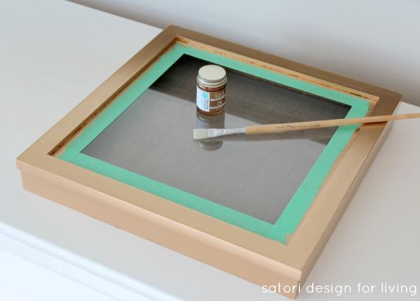 DIY Vintage Key Art with Gold Guilded Frame | Satori Design for Living