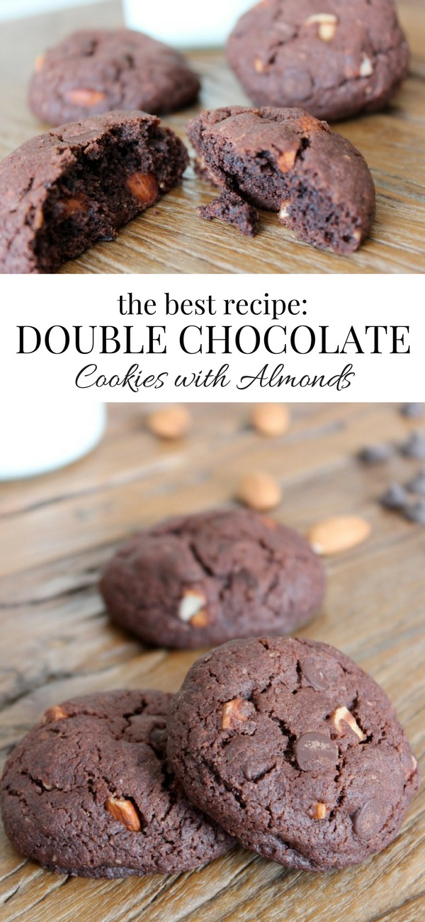 Sinfully Rich and Decadent Double Chocolate Almond Cookies