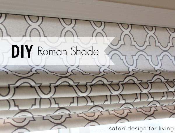 Diy Roman Shade Using Spoonflower Fabric Satori Design For Living