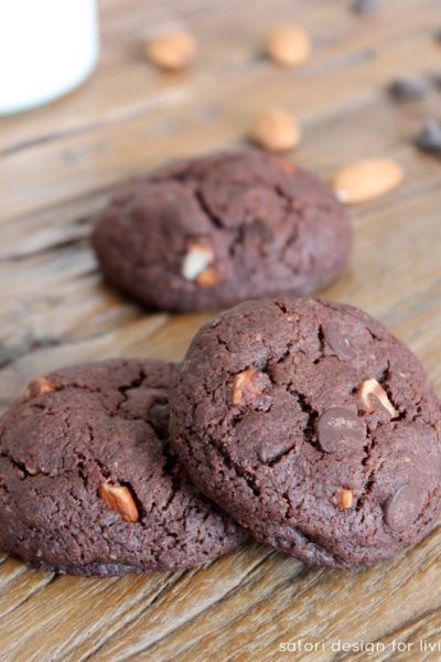 Double Chocolate Almond Cookies Recipe