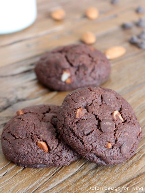 Double Chocolate Almond Cookies - Satori Design for Living