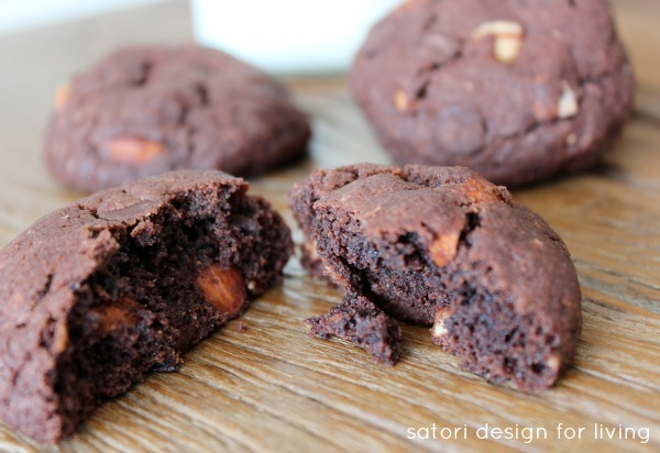 The Best Cookie Recipe for Chocolate Lovers! Double Chocolate Almond Cookies - Satori Design for Living