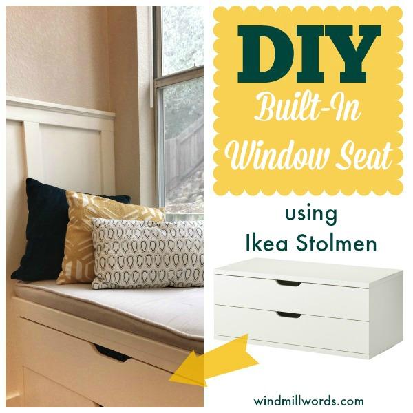 Ikea-stolman-window-seat-diy | A House in Holland