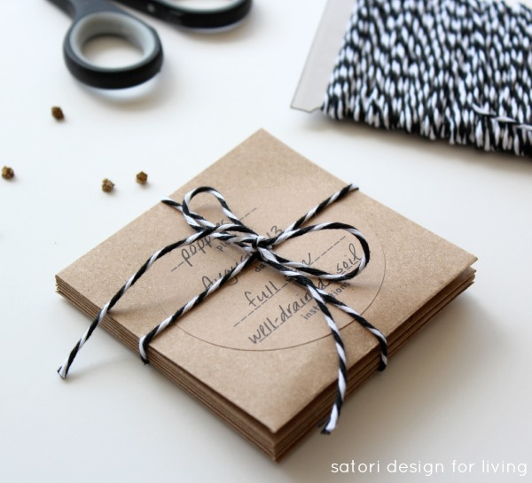 Create Your Own Seed Packets with Printable Labels - Satori Design for Living