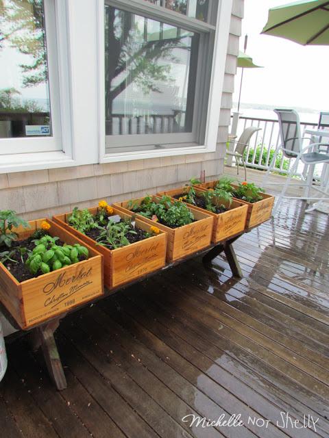 Wine Crate Herb Garden - Stitch a Wish Designs