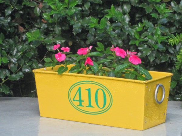 Outdoor Decorating - House Number Flower Pot