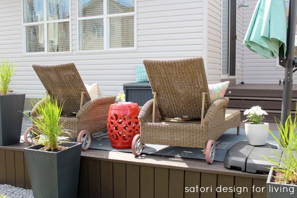 How to Create an Outdoor Living Space with Lounge Area-| Satori Design for Living