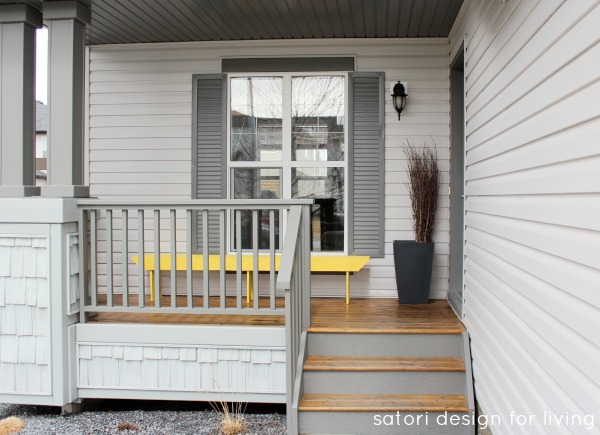 Spring Front Porch Decorating Ideas - Grey Front Porch BEFORE