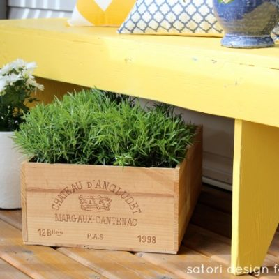 Decorated your front porch for spring yet? See how I added a bit of rustic cottage charm using vintage finds along with some new decor pieces to welcome spring!