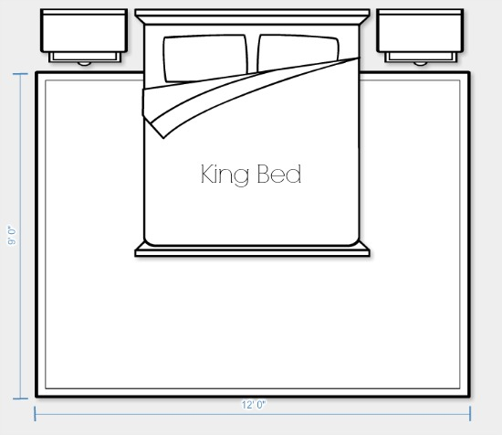 Area Rug Placement and Size for King Bed Option 2 | Satori Design for Living