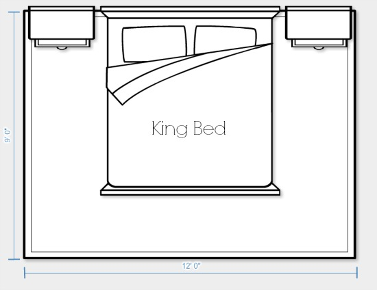 Area Rug Placement and Size for King Bed Option 1 | Satori Design for Living