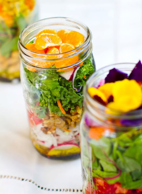 Jar Recipes to Take Along on Your Next Picnic - Healthy Salad in a Jar by Clean Eating Healthy Life