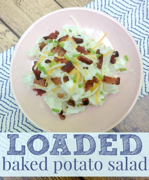 Loaded Baked Potato Salad Recipe by Three Loud Kids