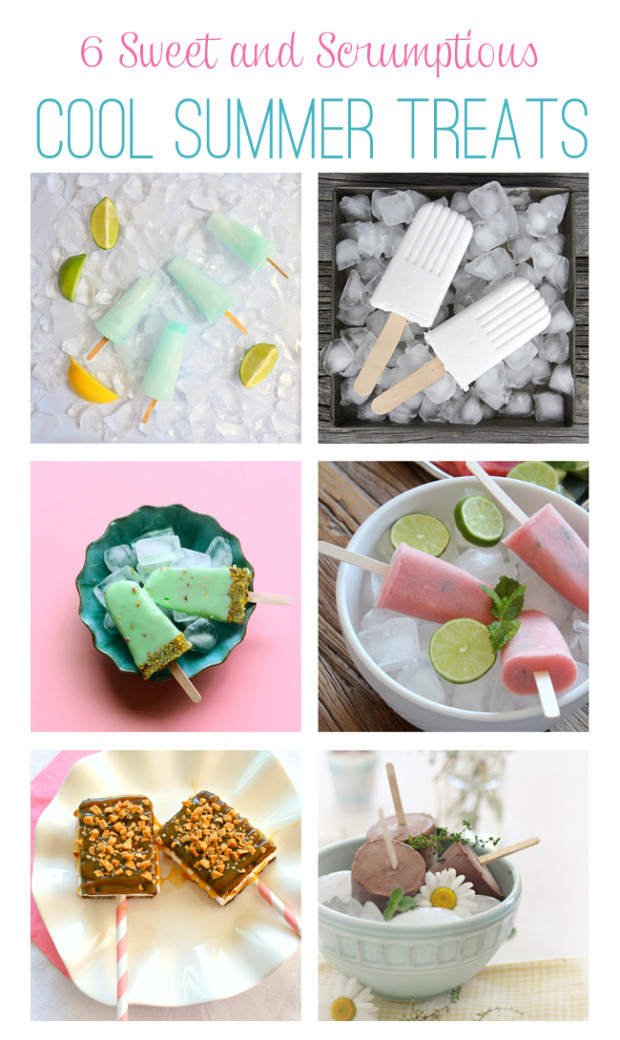 6 Cool Summer Treats - frozen fruit popsicles, pudding pops, fudgesicles and more! Found on SatoriDesignforLiving.com