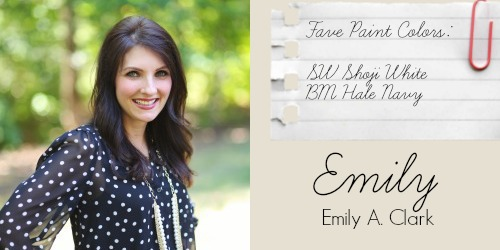 Emily from Emily A. Clark - Favorite Paint Colors - SW Shoji White, BM Hale Navy