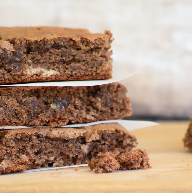 Gluten Free Almond Butter Brownies by Almost Supermom