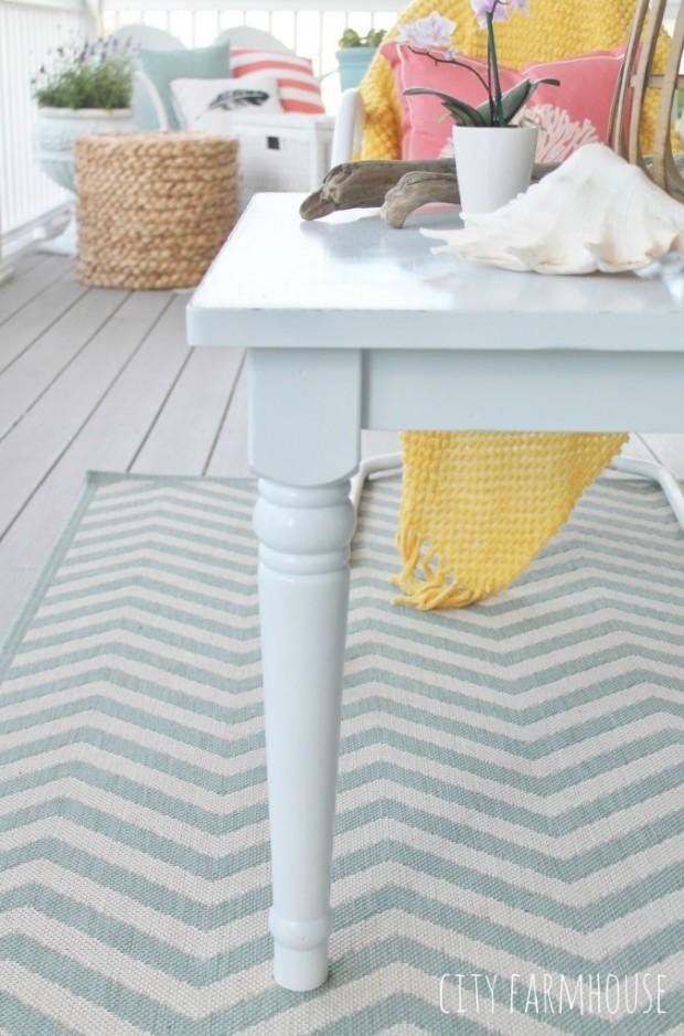 Outdoor Coffee Table Wickam Gray by Benjamin Moore - City Farmhouse
