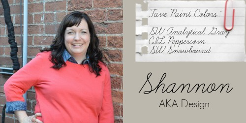 Shannon from AKA Design - Favorite Paint Colors - SW Analytical Gray, SW Peppercorn, SW Snowbound