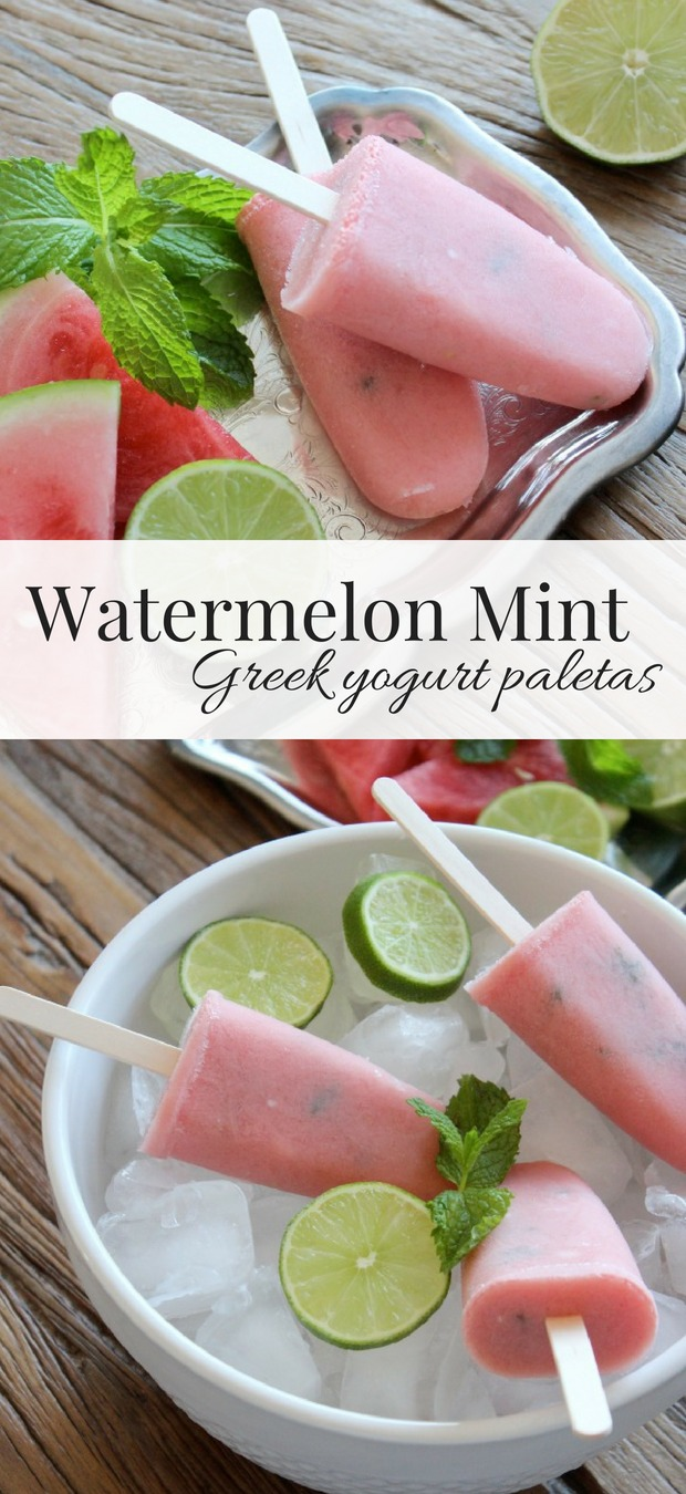 Cooling off this summer just got a delicious twist thanks to this recipe for Watermelon Mint Paletas. Similar to popsicles, this delicious combination of fresh fruit and citrus can only be described as the most refreshing treat ever!