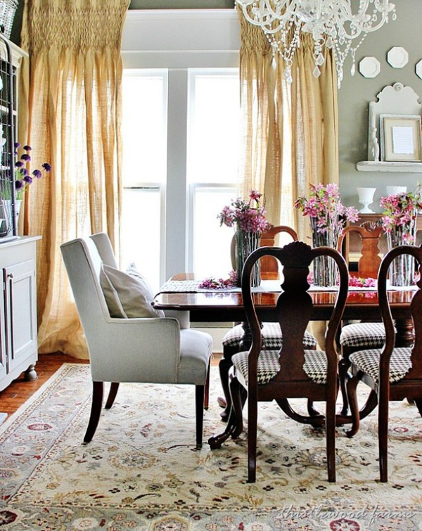 Formal Dining Room by Thistlewood Farms - Painted in Sherwin Williams Anonymous