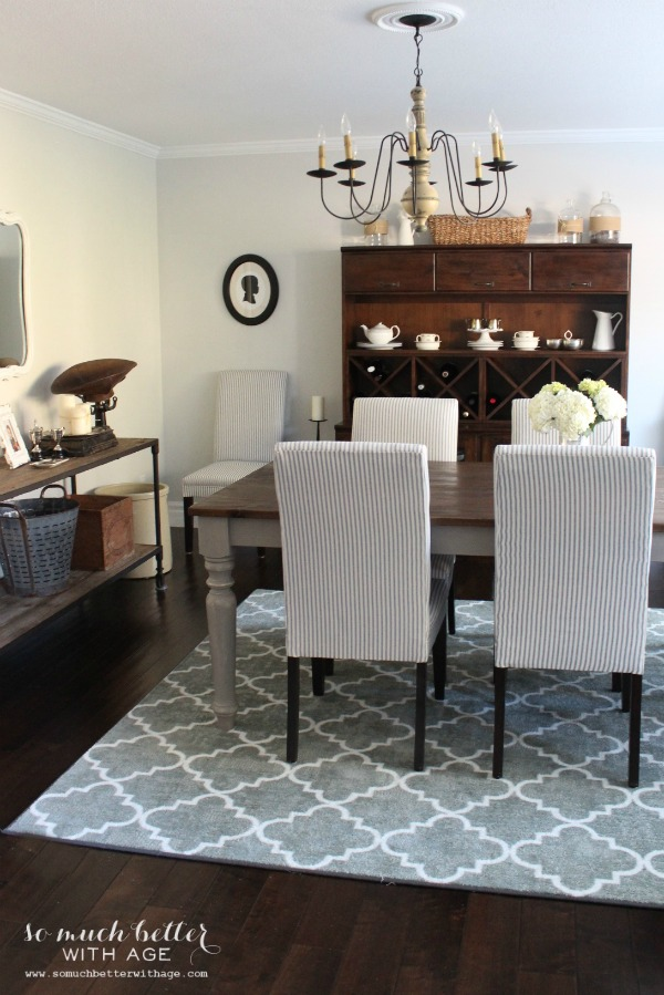 horizon by benjamin moore - dining room by So Much Better with Age