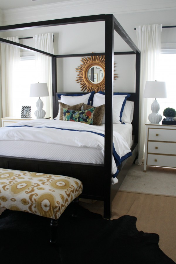 Master Bedroom by Emily A. Clark Painted in Sherwin Williams Shoji White