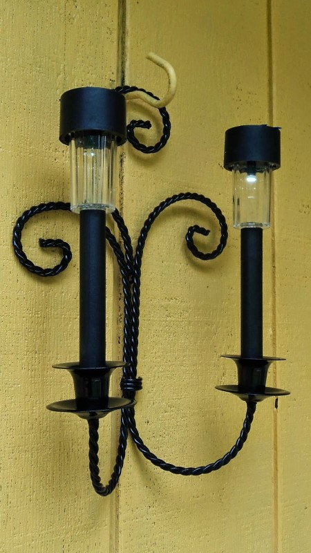 DIY Solar Sconce Outdoor Lighting