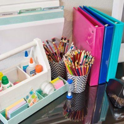 Back to School Ideas - Kids Homework Station via Be Simply Organized